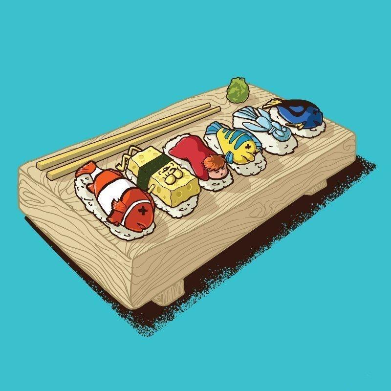 Прикольную картинку суши, приглашения праздник где