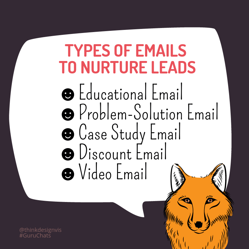 A3) Best way to nurture & convert leads is #emailmarketing - it generally has higher conversion rate than #socialmedia. #GuruChats https://t.co/Psit5ByTdg