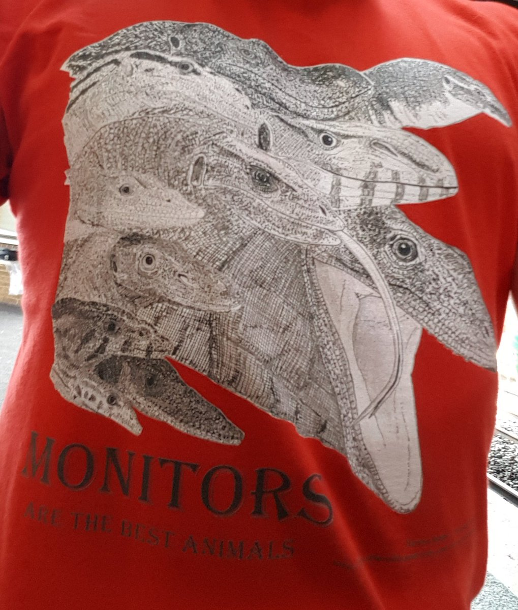 The t-shirt I&#39;m wearing today :) I eventually plan to do a colour version with far bolder outlines. #reptiles <br>http://pic.twitter.com/6Kon08bzJS
