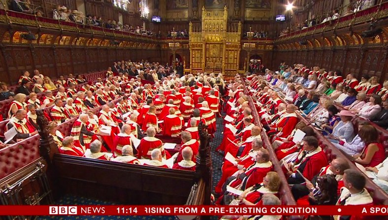 The annual Santa Claus Convention gets earlier and earlier every year. #QueensSpeech https://t.co/022DQbe8Xm