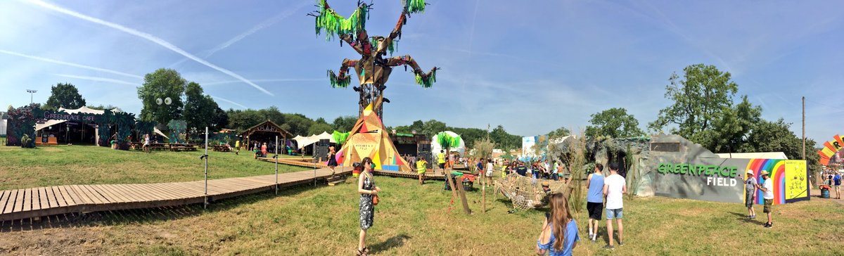 We&#39;re at @GlastoFest with @GreenpeaceUK spreading the word (and the ) about #forests! Come see us! #Glastonbury<br>http://pic.twitter.com/G8TkgudXnF
