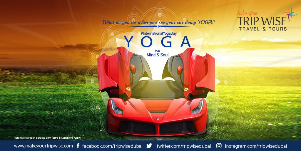 #InternationalYogaDay You wake up. You go to your car. You are shocked. You drive to Yoga Centre. #SuperCars #Dubai #Yoga #Carlover https://t.co/ebF1CATTuj