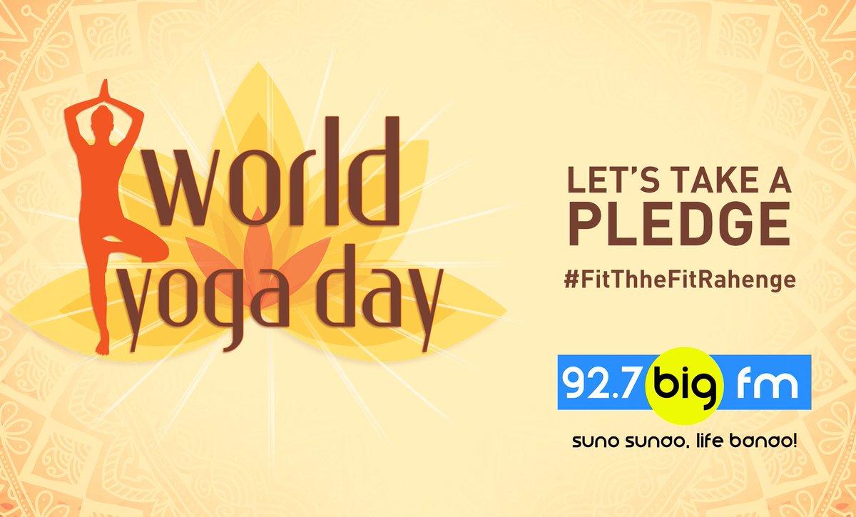 Let's take a pledge this #InternationalYogaDay #FitThheFitRahenge http...