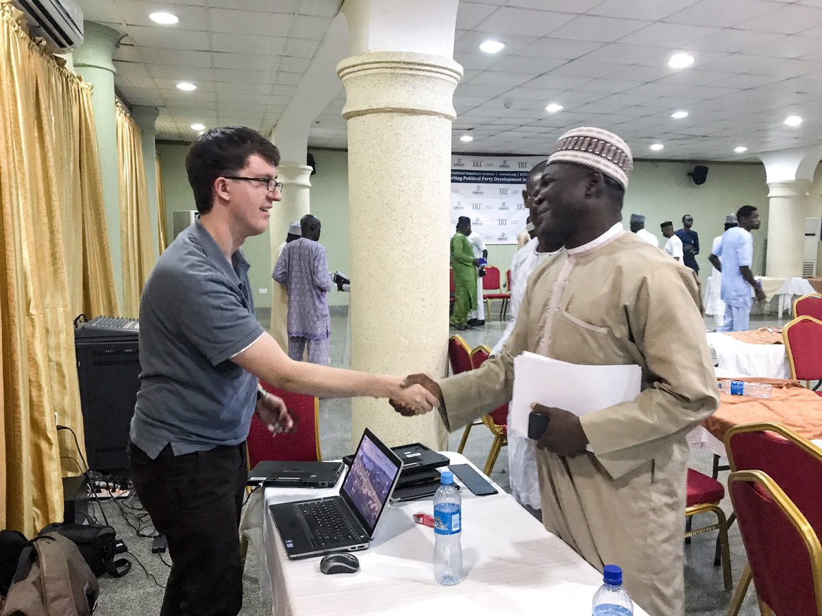 @jacobprice14 talking with @KOWA_NGR chairman after the conclusion of the @IRIglobal #leadership and #communication workshop <br>http://pic.twitter.com/tw7pYW9oa2