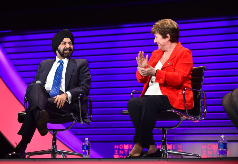 2 CEOs (@Mastercard's Ajay Banga & 's )@WorldBank di@KGeorgievaEUscuss the fastest route to gender inclusion: https://t.co/Vhqsez8YH6