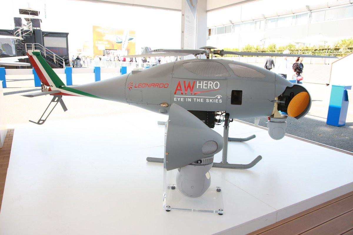الطائرة المسيره AWHERO R-UAS من شركة Leonardo  DC2BwYzXcAAOytp