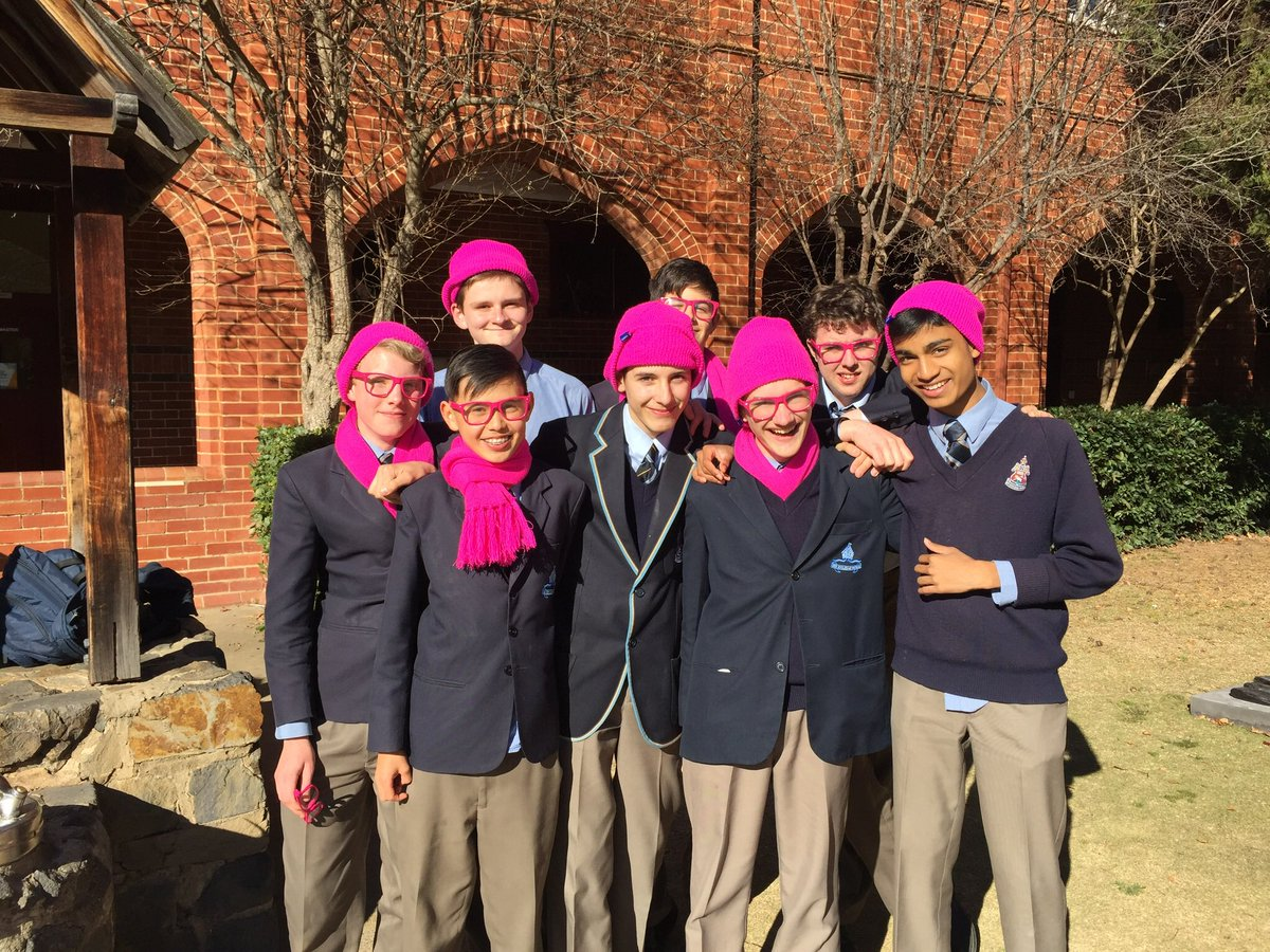 Looking bright @CanberraGrammar Pink Day for research against breast cancer: for our mums, sisters, wives, partners, daughters & friends.