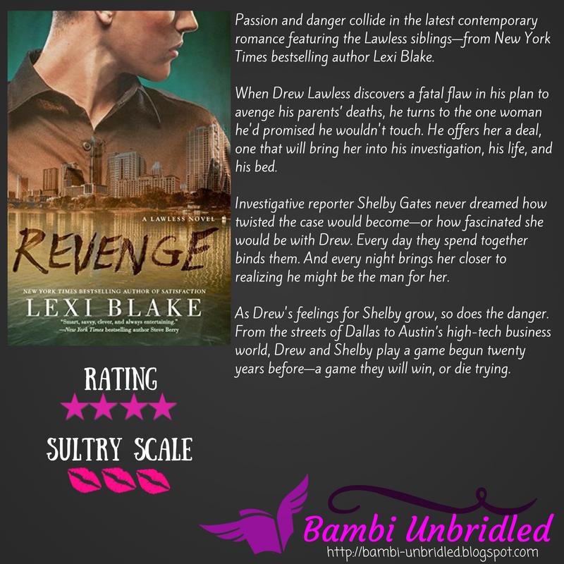 #ARC #Review: Revenge by @authorlexiblake @BerkleyRomance,  http:// bambi-unbridled.blogspot.com/2017/06/arc-re view-revenge-by-lexi-blake.html &nbsp; …  #bookbloggers #reading #romance #bookreview #Lawless <br>http://pic.twitter.com/NH1C51Pp6X