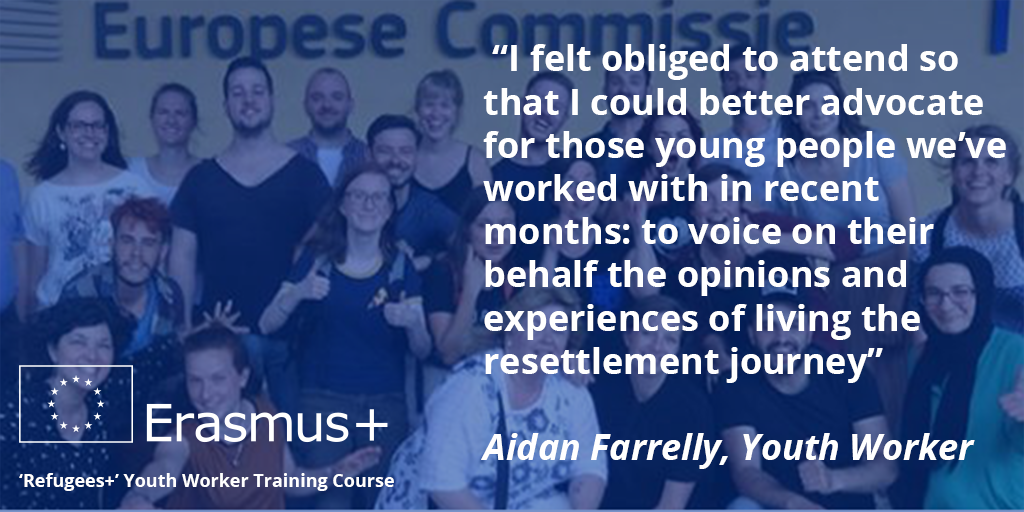 For #RefugeeDay  Aidan Farrelly explains how #ErasmusPlus training helped his work with Syrian refugees in Kildare  http://www. leargas.ie/blog/refugees_ plus_210617/ &nbsp; … <br>http://pic.twitter.com/l4nsRChDS6