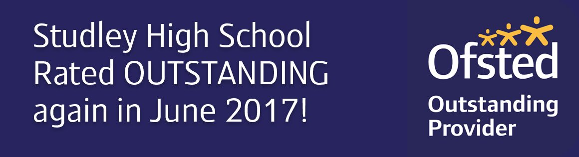 We are OUTSTANDING AGAIN! #Ofsted #Outstanding #proud  http://www. studleyhighschool.org.uk/ofsted-inspect ion-june-2017-message-from-headteacher-mr-gray/ &nbsp; … <br>http://pic.twitter.com/bkNYs7jsC8