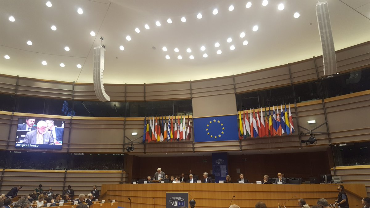 EP high level conference on migration management (w/ Junker+Tajani+Mogherini) is shortly coming to a close. Conference defined as: speeches.