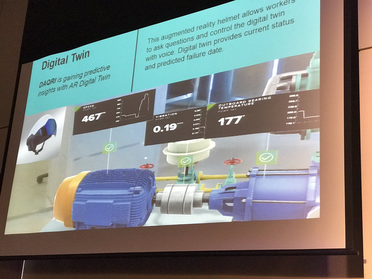 &quot;Digital Twin is not just about understanding products. It&#39;s about understanding systems and systems of systems.&quot; #incredible #iot #iotslam<br>http://pic.twitter.com/tSXbrbd8Yp &ndash; bij RTP Headquarters