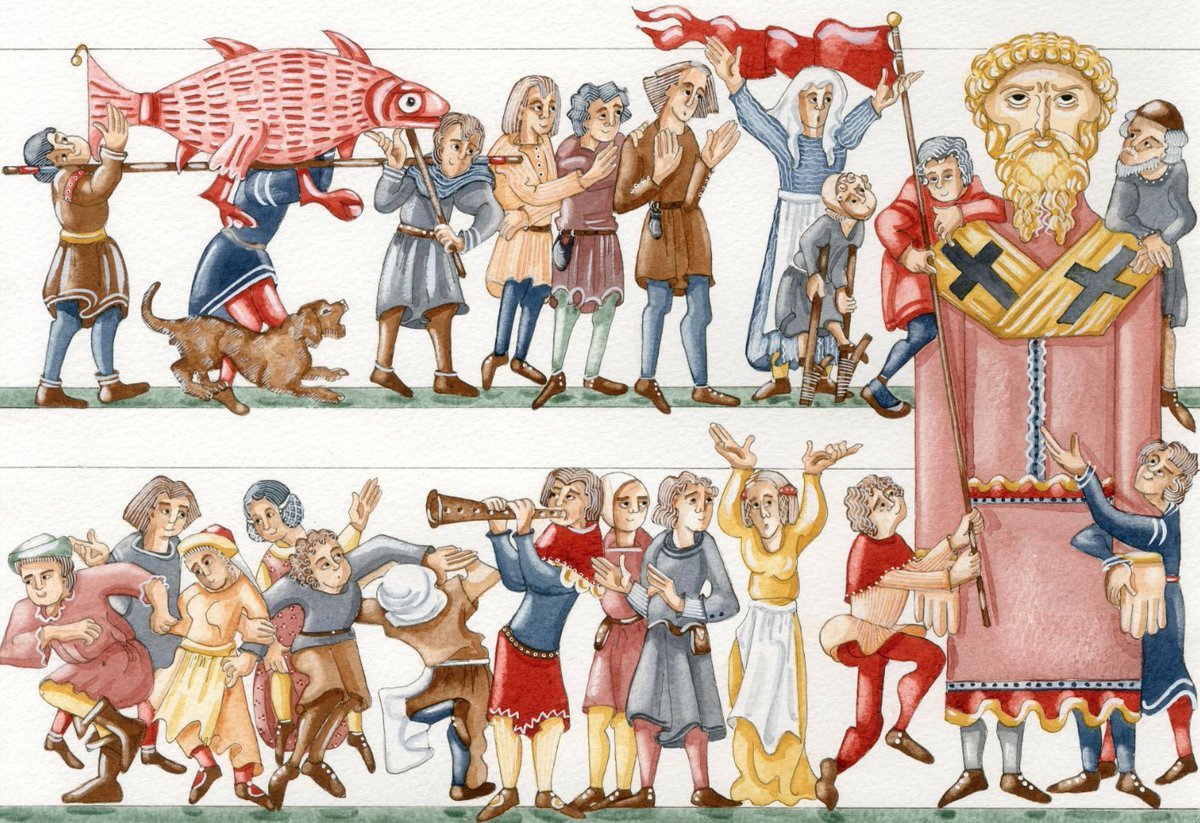 Huge #giants were carried through the streets of #London in #medieval #midsummer pageants &#39;marching as if they were alive, great and uglie&#39;<br>http://pic.twitter.com/MiC804WQjD