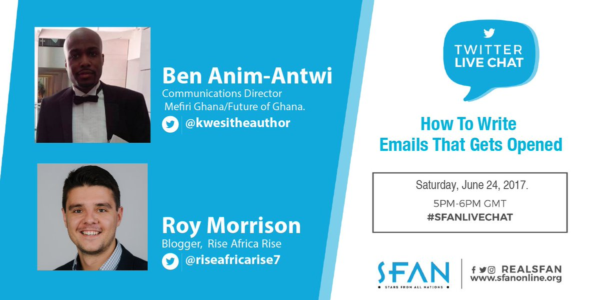 June edition of #SFANLiveChat comes up this Sat. 24 at 5PM //How to Write Emails that Gets Opened &amp; Read. Join us!  #SFAN #EmailTips #Email <br>http://pic.twitter.com/Ek4rYzKlS1