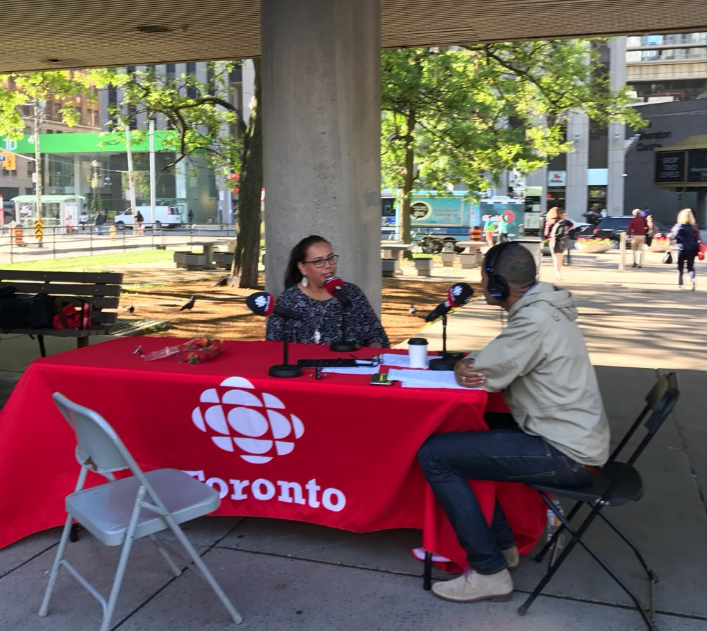 The photo my son took of me while I was on @metromorning with @mattgallowaycbc. I had to show him, &quot;Son, you can do this too.&quot; #Aspire <br>http://pic.twitter.com/x81stgJdr9