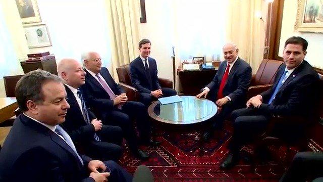 PM Netanyahu's meeting with Jared Kushner, @jdgreenblatt45 and US Ambassador to Israel David Friedman has begun
