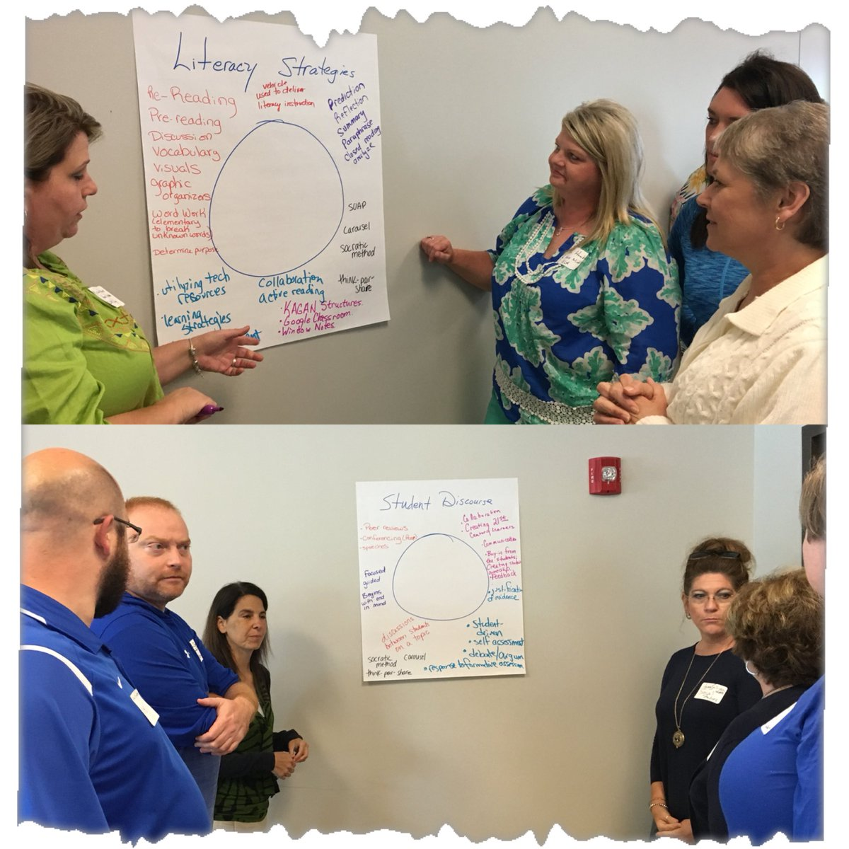 Participating in Carousel Strategy to demonstrate vocabulary understanding/knowledge #LDC #readky<br>http://pic.twitter.com/X1K390BDuq