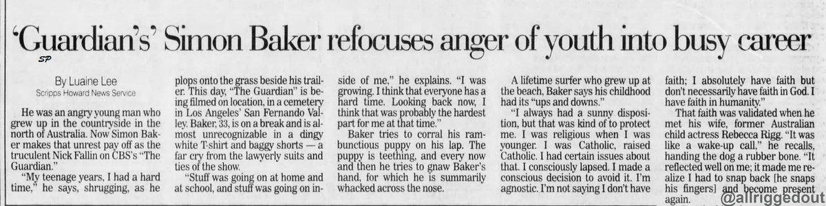 Old article Pittsburgh Post-Gazette 02 Jan 2003 #SimonBaker #TheGuardian <br>http://pic.twitter.com/yQ3oEIwbZB