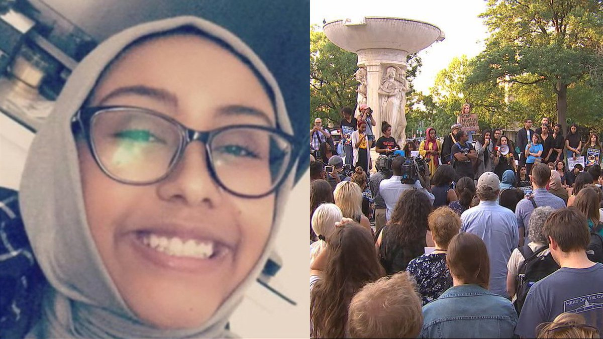 #BREAKING: Memorial for #NabraHassanen set on fire in Dupont Circle https://t.co/fLqzAuFZou
