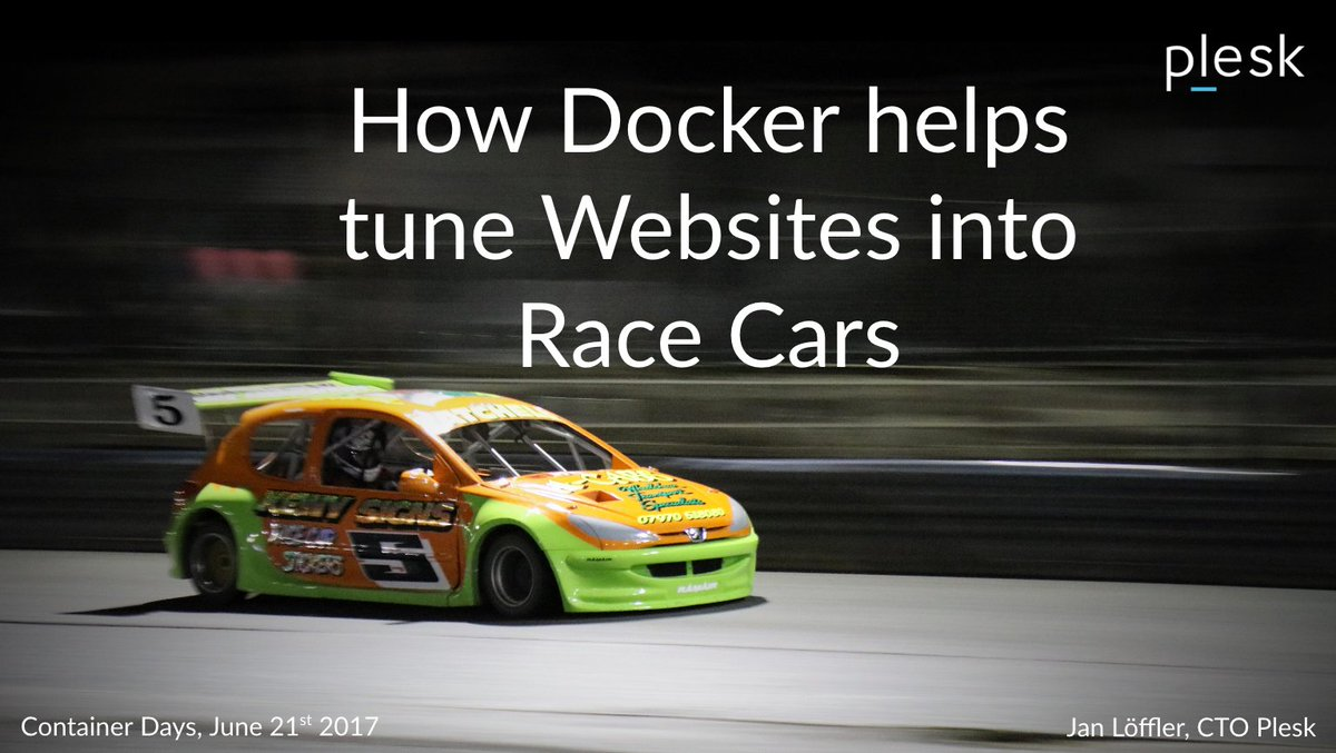 Slideshare: &quot;How #Docker helps tune #Websites into Race Cars&quot;  http:// buff.ly/2sRiXf7  &nbsp;   @ConDaysEU #CDS17<br>http://pic.twitter.com/8ptyWBPH4r