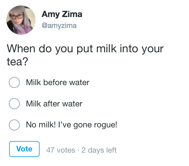 3/3 And finally, youll see when a Tweet contains a poll and can vote from that poll in detail view.