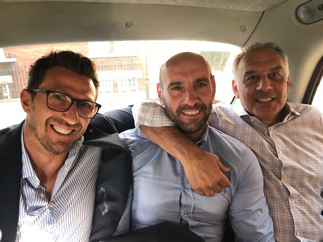 New season, new #ASRoma! #Pallotta #DiFrancesco #Monchi #ForzaRoma