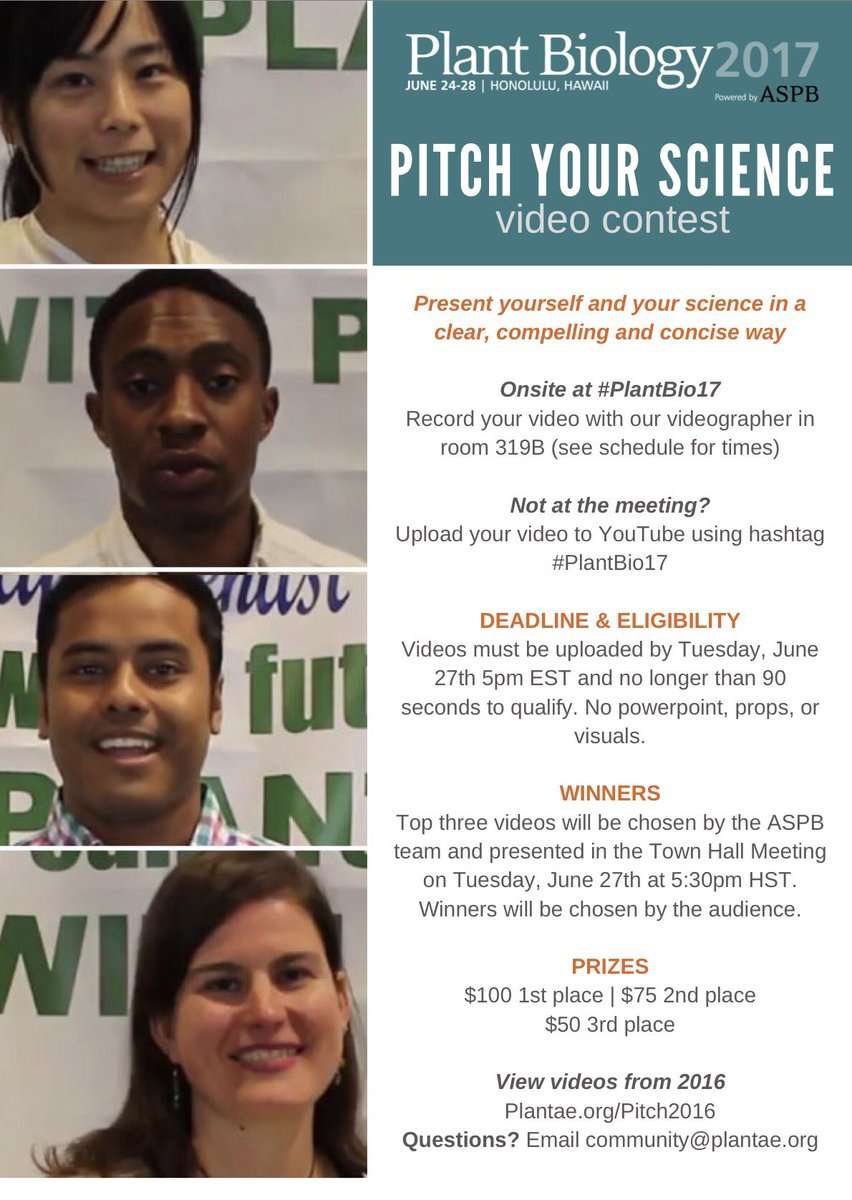 Please RT: dont forget @ASPB is doing #SciComm contest on YouTube 4 #plantbio17. Don&#39;t have 2B there 2 submit! $$$ prizes! Details in flyer!<br>http://pic.twitter.com/N6xYCbFsJW