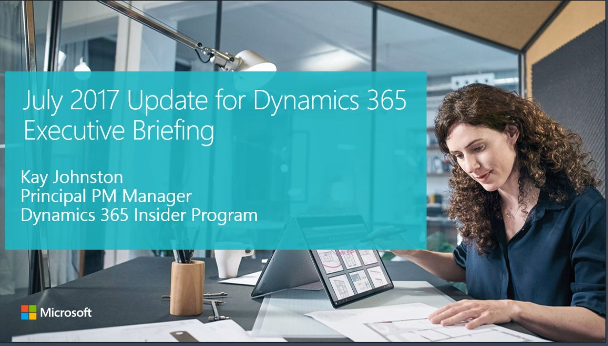 Thumbnail for Microsoft Dynamics 365 July 2017 Release Preview, Part 2