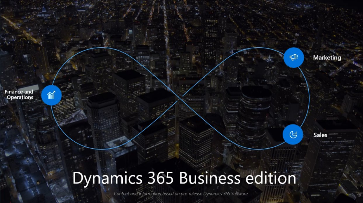 First slide I've seen that shows #MSDyn365 Financials Will be renamed #MSDyn 365 Finance and Operations Business Edition. https://t.co/hRQhlD69bx