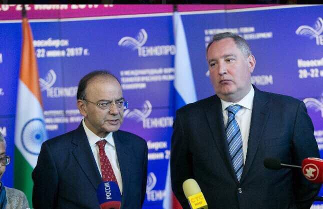 Briefing press with Deputy PM of Russian Federation Mr Dmitry Rogozin,...