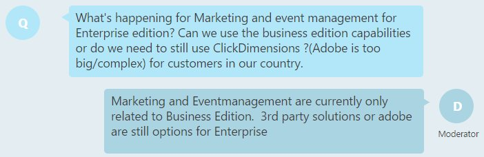 #MSDyn365 new Marketing app still planned to be only available for Business Edition customers, existing CRM customers need @ClickDimensions https://t.co/IpulNqLCDV