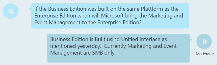 @ClickDimensions Limitation of #MSDyn365 Marketing app tied to the availability of Unified Interface for Enterprise Edition? Sort of makes sense. https://t.co/2EAz3fr28m