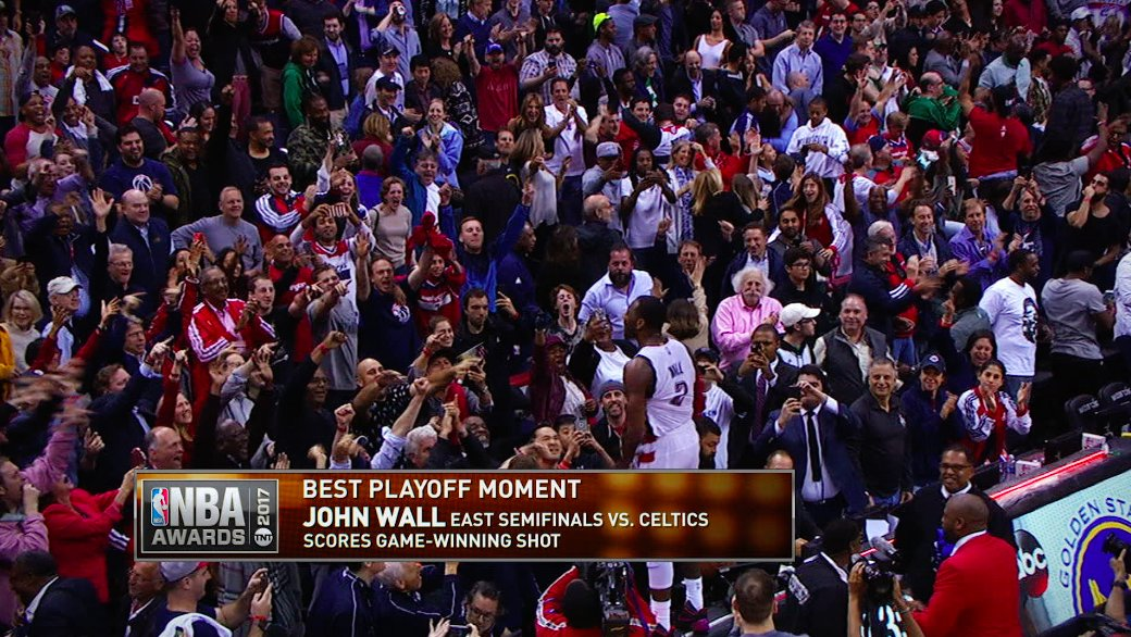 Did John Wall have the #BestPlayoffMoment of 2017?   RT now to vote &a...