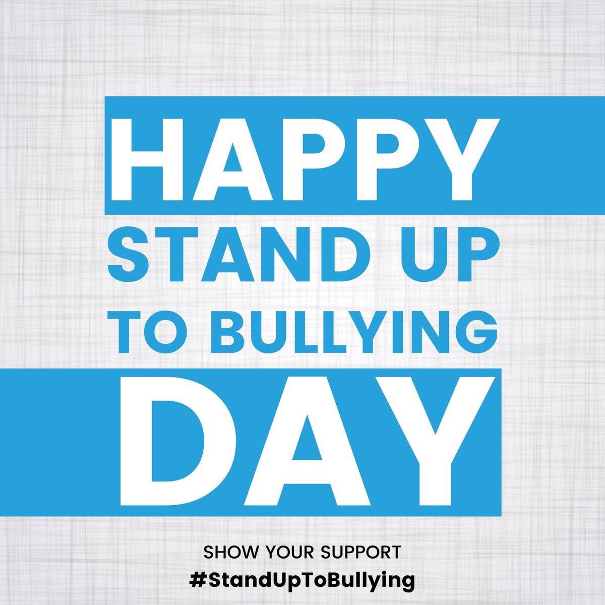 It's #StandUpToBullying day ... You don't have to suffer in silence https://t.co/2OPZu6fAHU