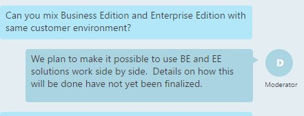 #MSDyn365 Business Edition and Enterprise Edition will work side by side! https://t.co/B7Ve76EGF4