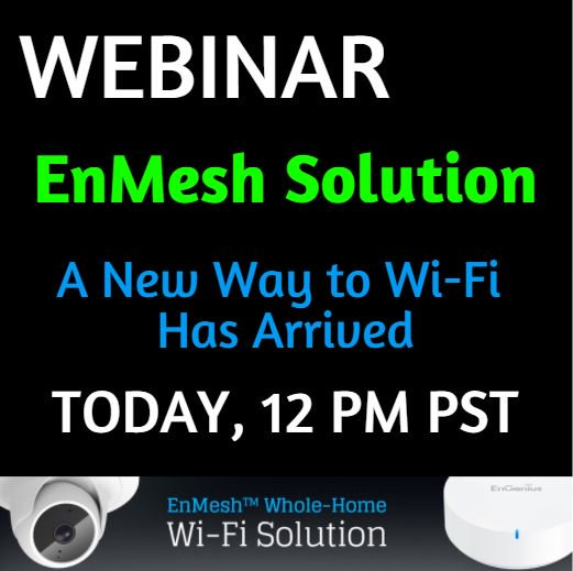 Join us to see how the new EnMesh solution from EnGenius can keep your family connected and protected! Register https://t.co/jaqhQb3k95