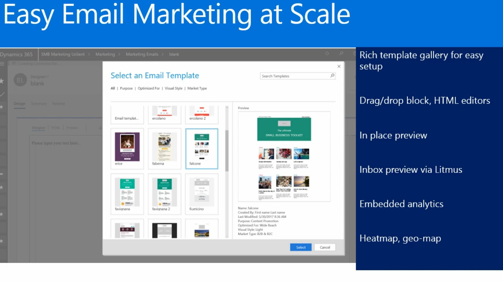 60+ marketing email templates will be included with SMB marketing app #msdyn365 https://t.co/pife5liOzi