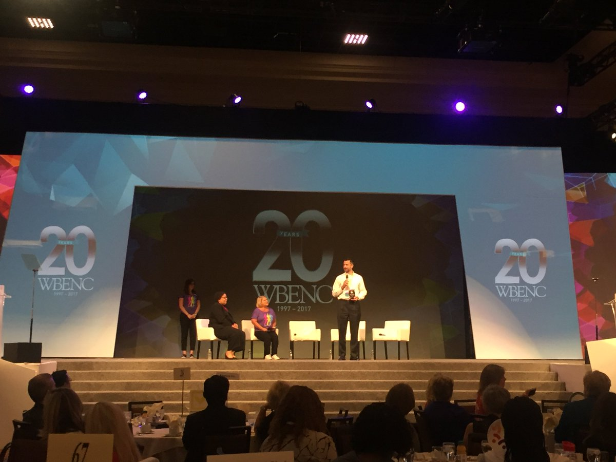 Congratulations to @exxonmobil for winning Best Corporate Partner at the #WBENCConf!  #WBENCis20 #WBENC2017 #ExxonMobil <br>http://pic.twitter.com/sphK0eUY7Z