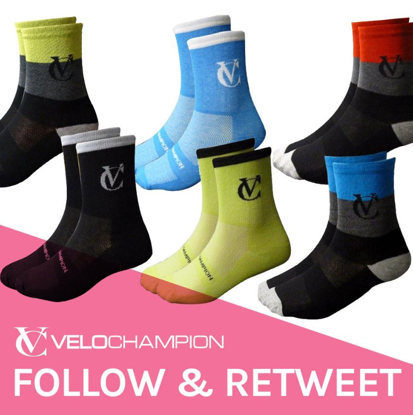 #WIN a pair of VELOCHAMPION socks, just follow and RT to enter! Winners will be announced 26/06/2017 #Competition #giveaway #socks #cycling<br>http://pic.twitter.com/KbsUMmIE4X