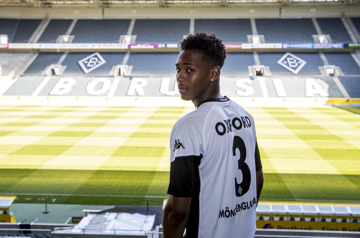 Reece Oxford looking happy about his loan move to Borrusia Mochengladb...