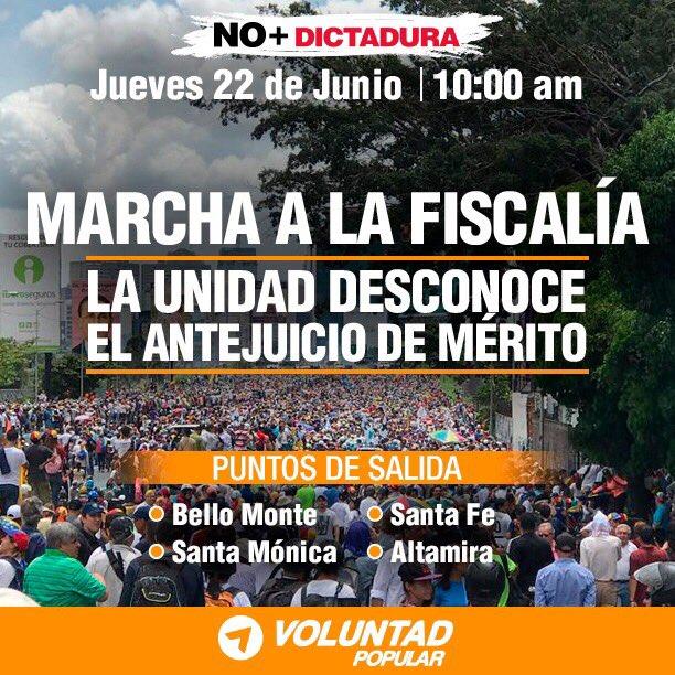 Este jueves #22Jun seguimos en resistencia, en la calle, con más firme...