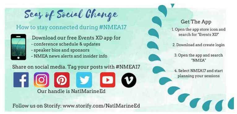 Stay connected w/us during #NMEA17! Follow us on your favorite social account & Storify, & use the conference app >> https://t.co/qSe3Z5ur91 https://t.co/MysTJuwa3C