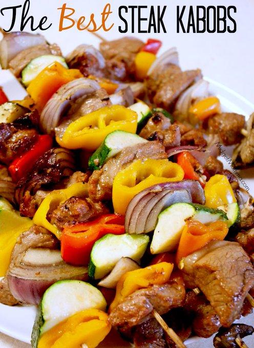 The BEST Grilled Steak Kabobs