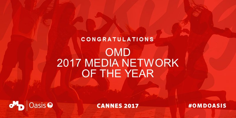 RT @OMD_EMEA: So proud to bring home 1 gold, 5 silver and 5 bronze! #CannesLions #Teamwork #OMDLife #creativity https://t.co/Lua9cXodCu
