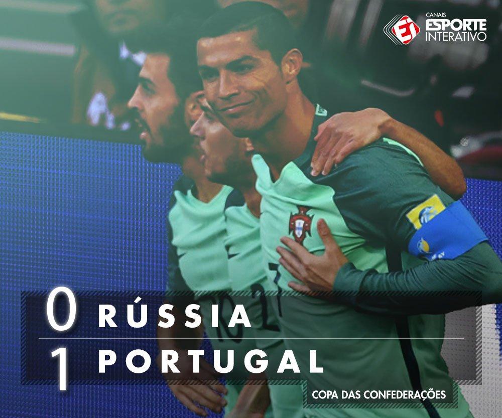 Com gol de @Cristiano, Portugal encaminha a classificação para a semi da Copa das Confederações!