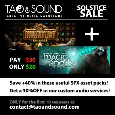 #gamedev #indiedev #gameassets This goes on! For this 2nd #solsticesale we have these best selling and very useful #sfx solutions. Hurry up! <br>http://pic.twitter.com/ssezxd4wEP