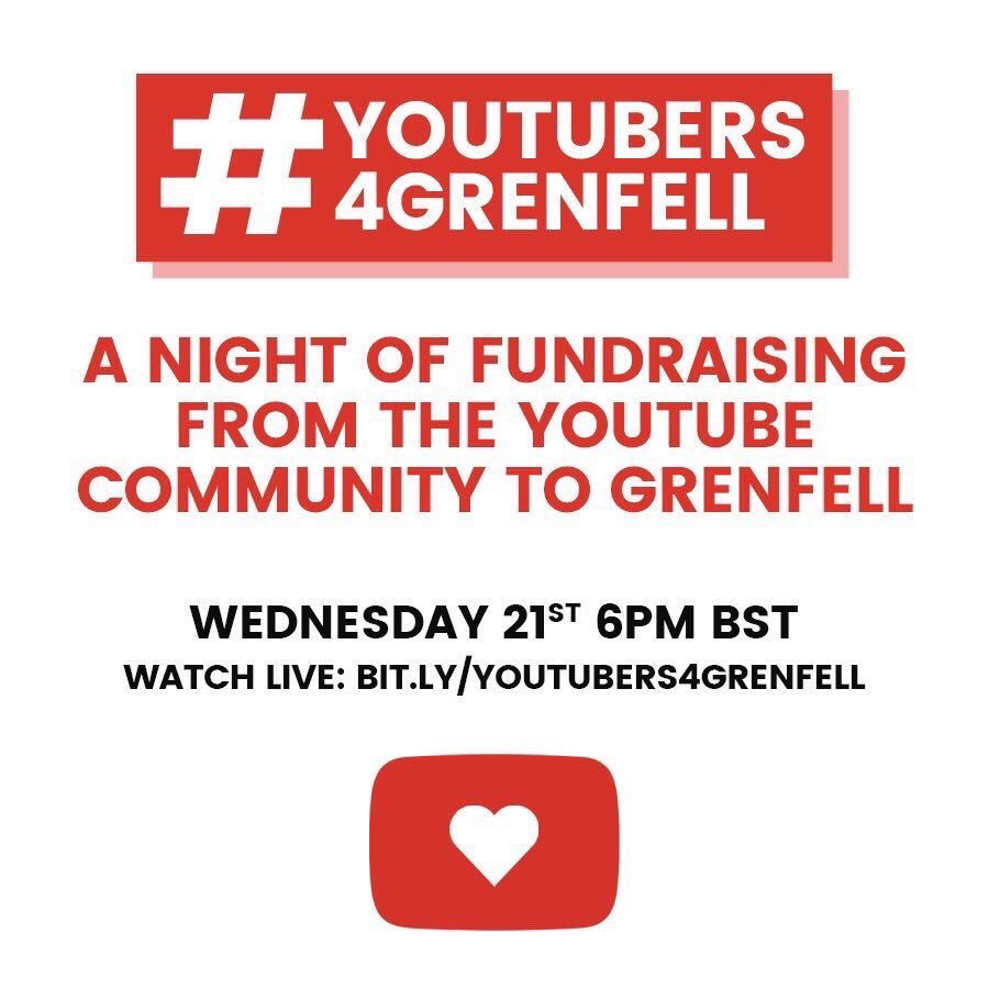 You can watch this live NOW, please do, raising money for #GrenfellTow...