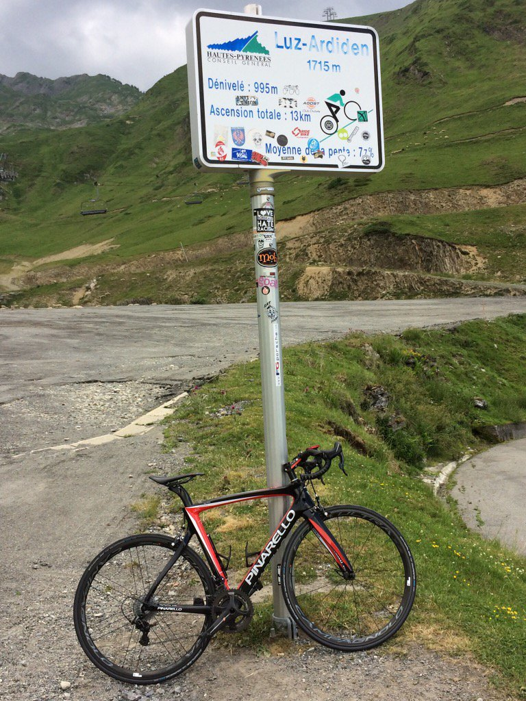 #Luz-Ardiden. Another HC in the bucket! #cycling #Pyrenees #France<br>http://pic.twitter.com/9hC5fUwxSM