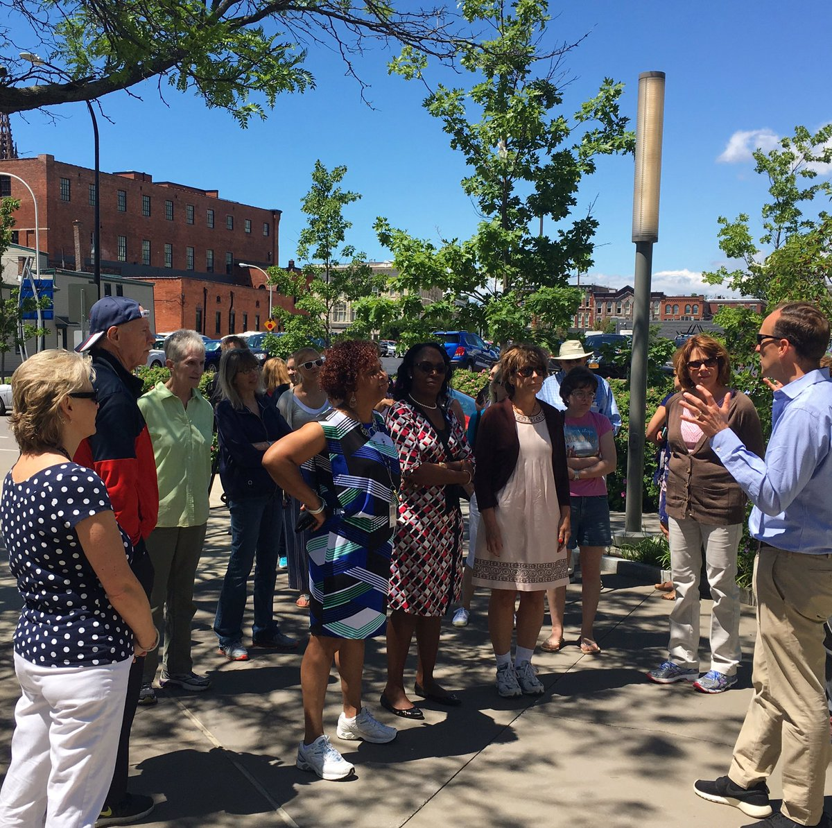 Our CEO @menstice led today's #walkonwednesday for Campus employees and members of the community! #healthycommunities