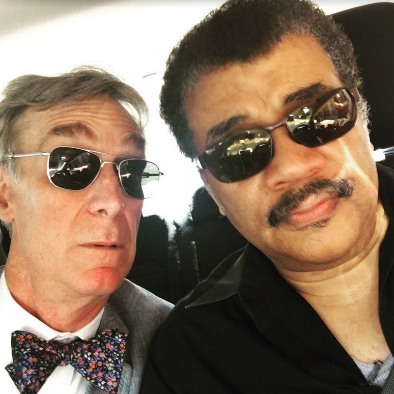 When a selfie is so cool it reaches absolute zero.   Celebrating #NationalSelfieDay with two Planetary Society legends 🚀
